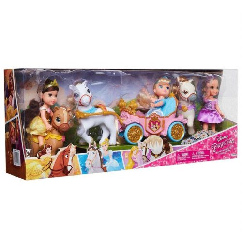 Disney Petite Doll And Jakks Petite Doll Pony and Royal Carriage Gift Set